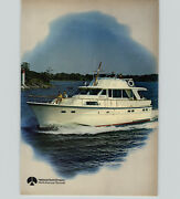 1970 Paper Ad 2 Pg Hatteras Yacht Motor Boat 31' To 53'
