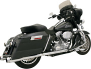 Bassani Chrome 4 True Dual Motorcycle Exhaust 89-16 Harley Touring Bagger Flhxs