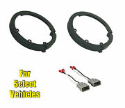 6/6.5 Car Stereo Door Speaker Plate Adapters + Wire Harness For Some Honda/acu