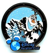 Disney Cruise Lines/disney Vacation Club Olaf Frozen Rare Gift Pin