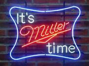 New Itand039s Miller Time Lite Neon Sign Beer Bar Pub Gift Light 17x14