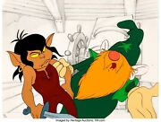 Wizards 1977 Original Production Cel And Layout Signed By Toby Bluth / Bakshi
