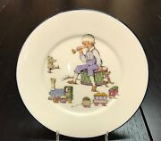 Lenox China Special Childand039s 8 Plate Little Boy With Horn Drum Train