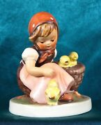 Vintage Hummel Chick Girl Figurine 57 Tmk3 3.50tall - Excellent Cond.
