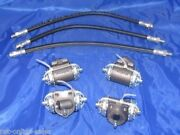 4 Wheel Cylinders, Brake Hoses 39 40 41 Chevrolet Chevy Cars 1939 1940 1941