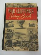 Vintage World War Ii Wwii United States Scrapbook W/ Newspaper Clippings Photos