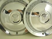 1954 1955 Ford Hubcaps 15 Inch Wheel Covers Pair