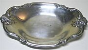 International Silver Co Silver Plated Candy Jewelry Oval Dish Bowl 448 Tri Delt