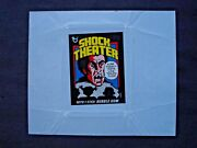 1975 Topps Shock Theater Test Wax Wrapper