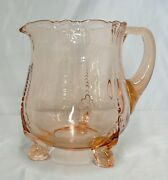 Vintage Pink Depression Glass Heisey Empress Dolphin Footed Pitcher