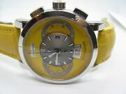 Paul Picot Menand039s Firshire Technograph Pp 0334 Yellow Dial Chrono Automatic Watch