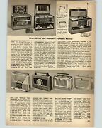 1956 Paper Ad 3 Pg Portable Radio Capehart Arvin Rca Greenwich Westinghouse ++