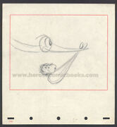 Walt Disney Studios Dumbo Storyboard/concept Drawing Circus Baby Delivery 1941