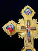 Orthodox Christian Bishop Or Priest Sterling Silver Gold-plated Blessing Cross