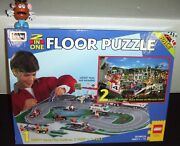 Lego Rose Art 08099 System 2 In One Floor Puzzle Racing Set 1996 New Sealed Box