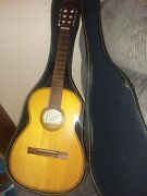 Andnbspguitar Vintage 1960s Giannini Gn50 1/2 Scale Brazilian Rosewood Mahogany Brazil