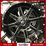 20x10 Fuel Maverick Satin Black And Milled Finish On 33/12.50r20 M/t Offroad