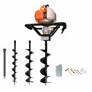 Petrol Earth Auger Post Hole Borer Ground Drill With 3 Bits