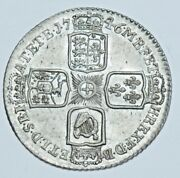 1746 Sixpence Lima British Silver Coin From George Ii Au