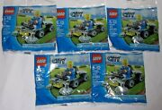 Lego New Promo Polybag Set Lot 5 30224 City Lawn Ride On Mower Landscape Minifig