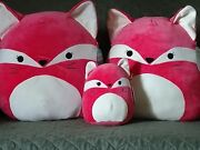 Squishmallow Squishy Fox Family 20 16 And 8 Baby Safe Washable Plush Last One
