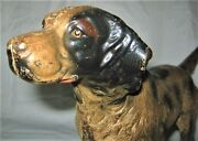 Antique Hubley Pa Usa Sport Hunting Dog Doorstop Cast Iron Home Garden Door Art