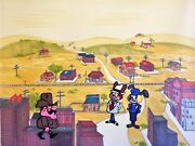 """""""bunny And Claude"""" 1969 Original Production Background Great Carrot Train Robbery"""