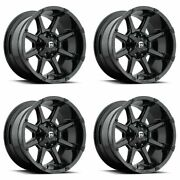 Set 4 20 Fuel Coupler D575 Black Wheels 20x10 8x170 -24mm For Ford Lifted Truck