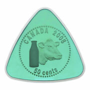 Canada 2008 50 Cent Sterling Silver Triangle Coin Milk Delivery Rcm