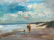 Listed Nino Pippa Original Oil Painting South Florida Best Friends 12x16 Coa