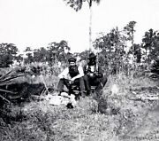 Florida Hunters Stopping For Lunch In A Grassy Field Circa 1910