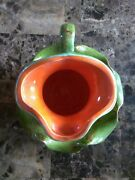 Handcrafted Ceramic Miniature Vase / Piture And Bowl From 1968