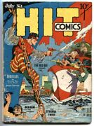 Hit Comics 1 1940-1st 1st Appearance Of Hercules 1st Red Bee- Rare G/vg
