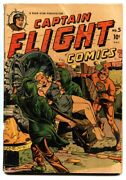 Captain Flight 5 1945-four Star-hooded Villains-bound Babe-wwii-1st Red Rocket