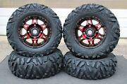 Can Am Defender Hd10 27 Quadking 14 Hd7 Red Atv Tire And Wheel Kit Can1ca
