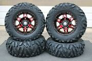 Can Am Commander 1000 27 Quadking 14 Hd7 Red Atv Tire And Wheel Kit Can1ca
