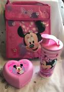 Tupperware Minnie Mouse Heart Sandwich Keeper Lunch Bag Tumbler And Flip Lid