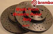 Fits 99-03 Tl Drilled Slotted Brake Rotors Made From Brembo Blank Front Rear Set