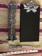 Black Granite Cheese Tray Knife And Cracker Tray Floral Metal Aluminum Alloy