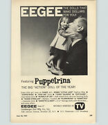 1963 Paper Ad Doll Eegee Puppetrina Action Annette Andy Tandy Talker Patticake