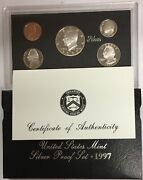 1997-s Us Mint Silver Proof Set In Ogp And Coa