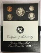 1995-s Us Mint Silver Proof Set In Ogp And Coa