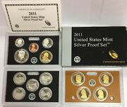 2011-s Us Mint Silver Proof Set In Ogp And Coa