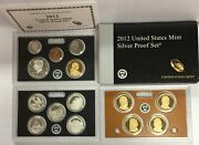 2012-s Us Mint Silver Proof Set In Ogp And Coa