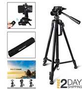 Canon Dslr Nikon Sony Camera Stand Tripod With Remote And Travel Bag Flip Lock