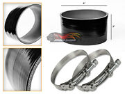 Black Silicone Coupler Hose 4 102mm + T-bolt Clamps For Varies Applications