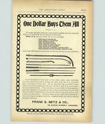 1899 Paper Ad Vintage Medical Devise Frank Betz And Co Doctor Dr Tools Catheter