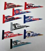 9x Baseball Pennants Braves_twins_cubs_dodgers_white Sox_red Sox_royals_marlins