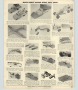 1954 Paper Ad Marx Toy Truck Dump Pan American Airplane Cities Tow Wyandotte ++