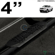 Topline For 2005-2020 Toyota Tacoma Access Cab 4 Oval Side Step Nerf Bars - Blk